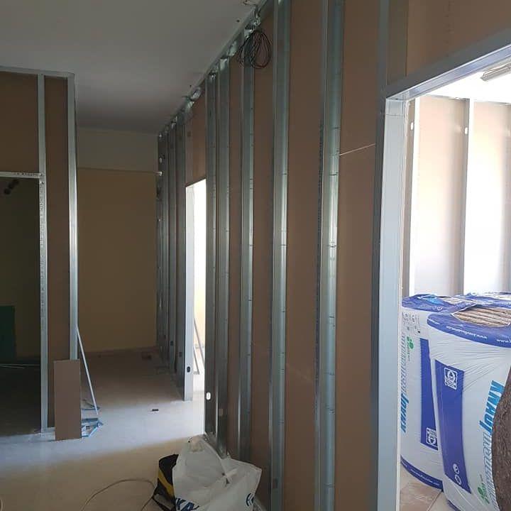 Ξηρά Δόμηση : Χωρίσματα γυψοσανίδας
